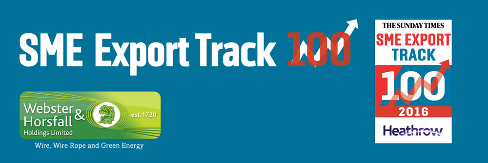 Webster & Horsfall win place on Sunday Times Heathrow SME Export Track 100